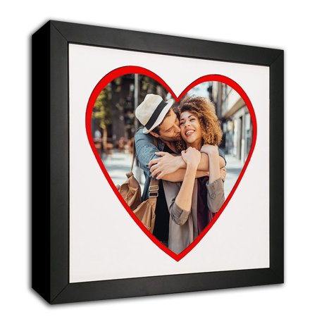 - Heart Mat Cut-out Picture Frame Made to Display 8x10-Inch Photos