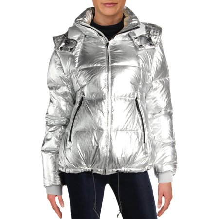 Cole Haan Womens Winter Down Puffer Coat (Cole Haan Signature Hooded Down Puffer Coat)
