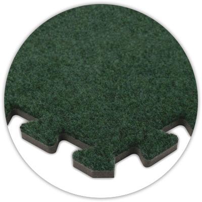 Premium SoftCarpet Flooring, 10'x10' Floor, Emerald Green...