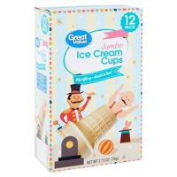 Great Value Jumbo Ice Cream Cups, 2.75 Oz., 12 Count