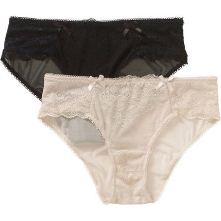 Pretty Essentials Women's Lace Hipster Panty - 2 Pack