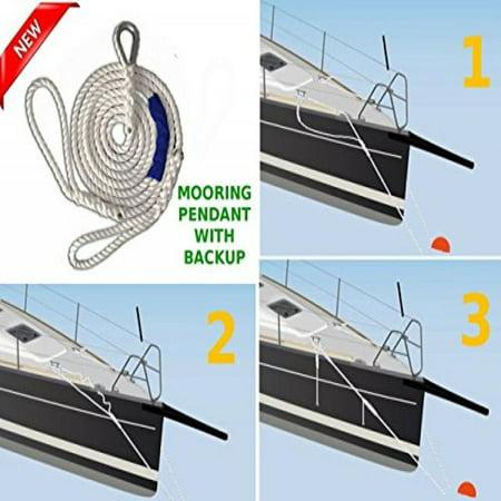 NEW Driftproof Mooring Pendant with Backup Line  3 Strand