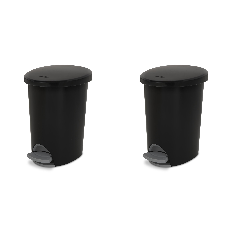 2-Pack Sterilite 2.6-Gallon Ultra StepOn Wastebasket