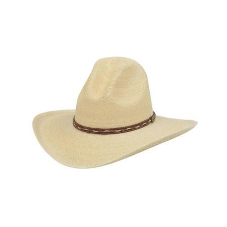 Alamo Cowboy Hat Gus Crown Nevada Palm Leaf Natural 28170