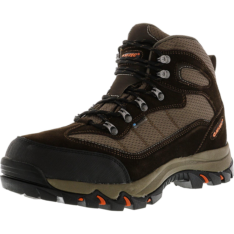 Hi-Tec Men's Skamania Wp Chocolate   Dark Taupe Orange Ankle-High Hiking Boot 11W by Hi-Tec