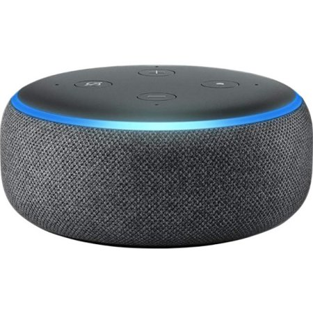 Amazon Echo Dot (3rd Generation) Smart Speaker - Wireless Speaker(s) - Charcoal - Wireless LAN - Bluetooth - Microphone, Wireless Audio Stream, Wireless Pairing, Hands-free, Voice Command, Spotify Con