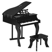 Costway Classic 30 Key baby Grand Wooden Piano Toddler Toy w/ Bench & Music Rack Black
