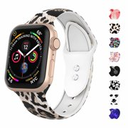 WASPO Compatible for Apple Watch 38mm Band, 40mm 42mm 44mm iWatch Sport Soft Silicone Strap with Fadeless Printed Replacement Wristband for Apple Watch Series 4 3 2 1 Women Men