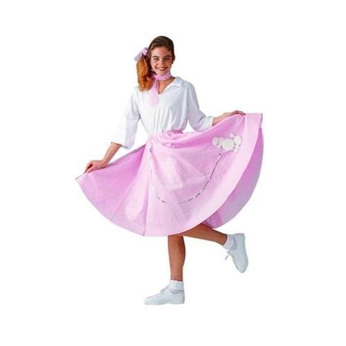 RG Costumes 81038-BL Poodle Skirt Costume - Blue - Size Adult Standard