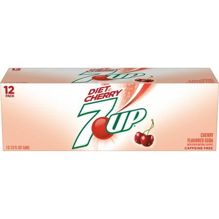 Diet 7Up Diet Soda  Cherry  12 Fl Oz  12 Count
