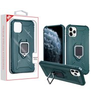 Green Thickening Candy Skin Cover With Ring Stand For Apple Iphone 11 Pro