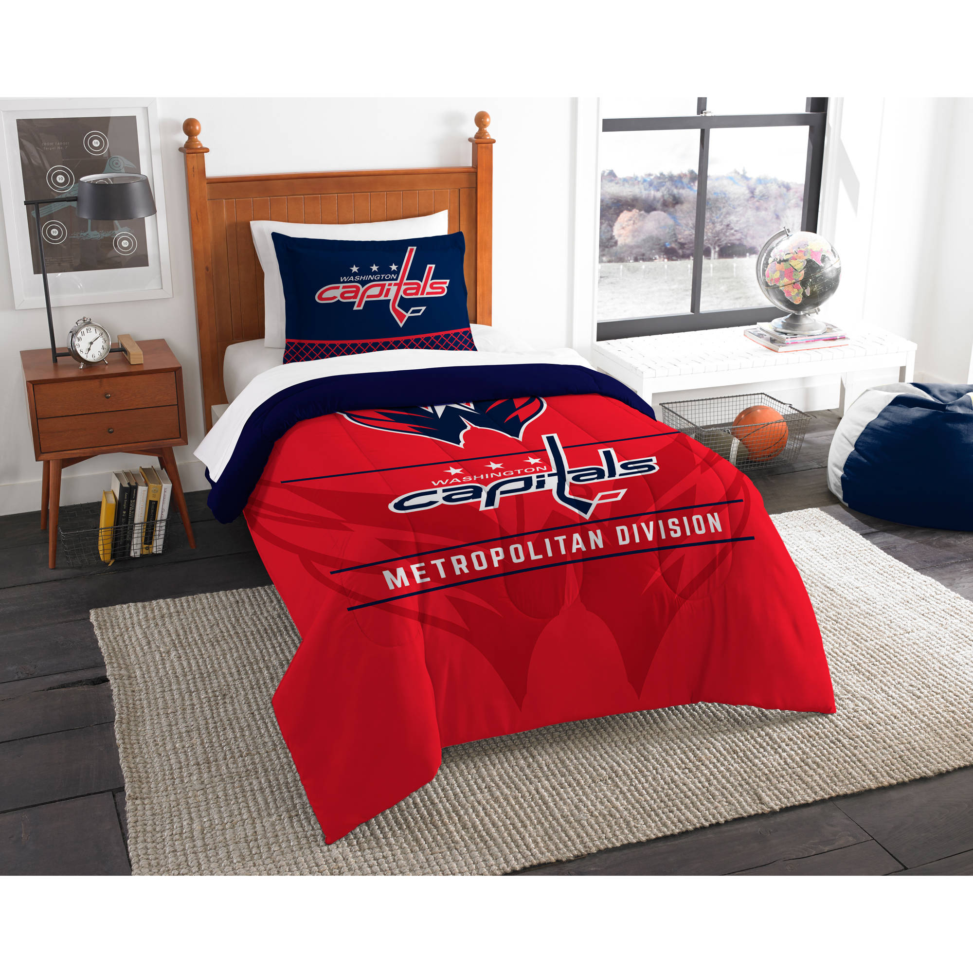 "NHL Washington Capitals ""Draft"" Bedding Comforter Set by The Northwest Company"