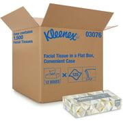 Kleenex White Facial Tissue, 2-Ply, 125 Sheets/Box, 12 Boxes/Carton -KCC03076