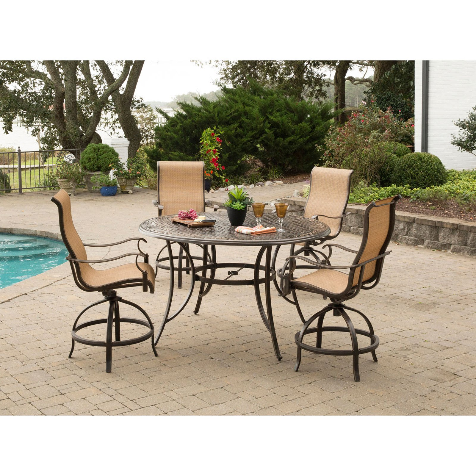Hanover Manor 5-Piece Outdoor High-Dining Bar Set