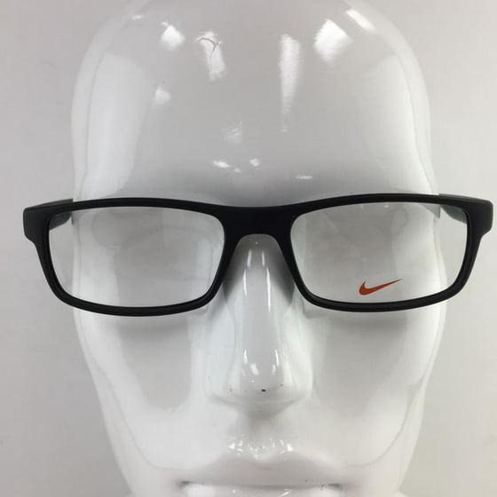 3252c7b7ce Nike 7090 010 Matte Black Plastic Eyeglasses 53mm - Walmart.com