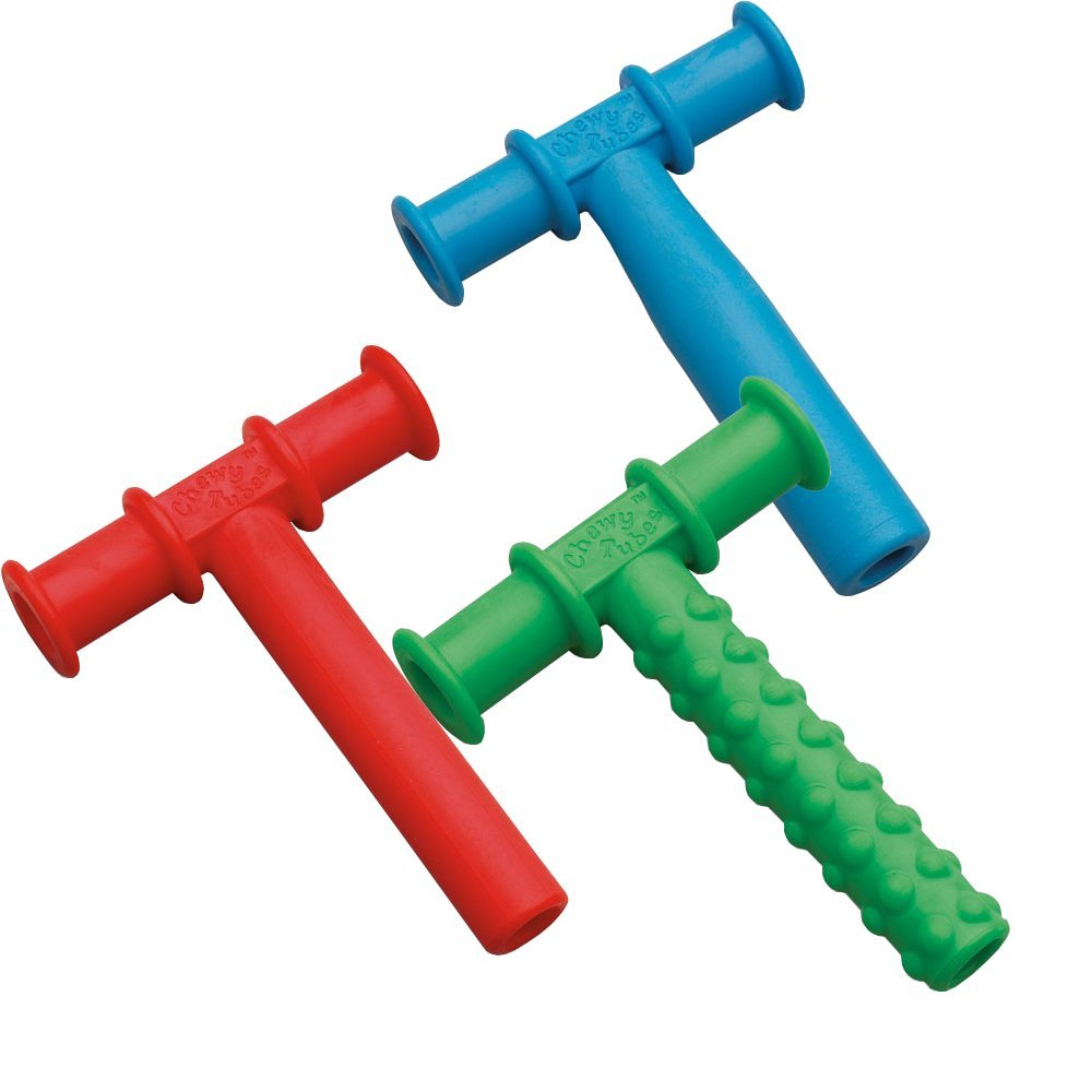 Chewy Tubes Teether, 3 Pack - Red/Green/Blue