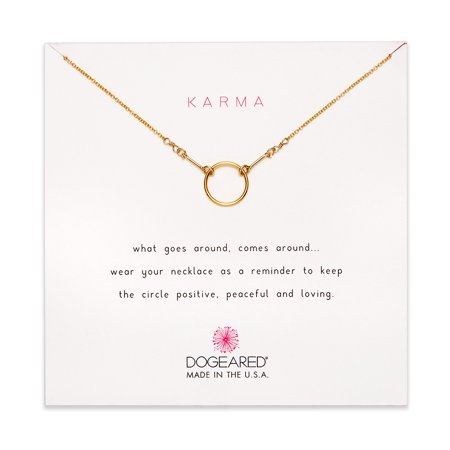 Dogeared Best Mom Necklace - Dogeared Karma Gold Dipped Necklace