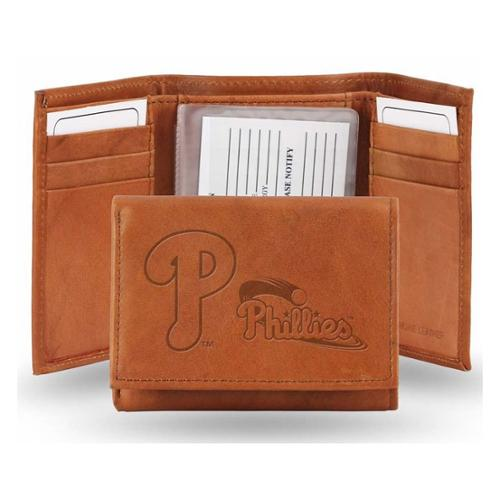 Philadelphia Phillies Official MLB One Size Leather Trifold Wallet by Rico Industries