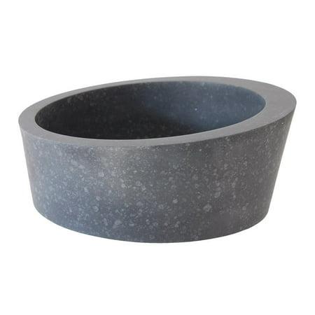 EB_S023BA-H Arched Ellipse Vessel Sink - Honed Black Basalt