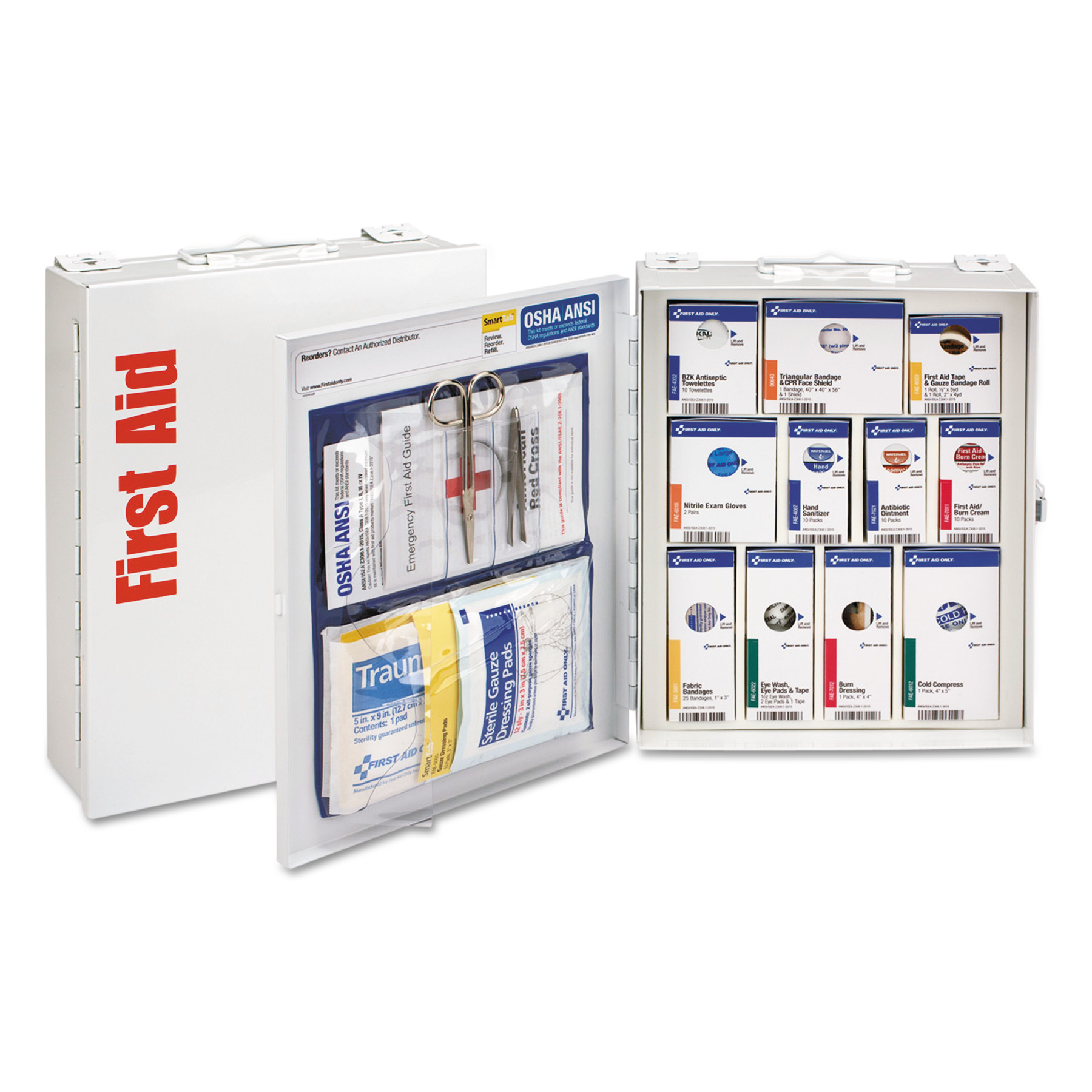 First Aid Only ANSI 2015 SmartCompliance First Aid Station Class A, No Meds,25 People,96 Pieces by FIRST AID ONLY, INC.