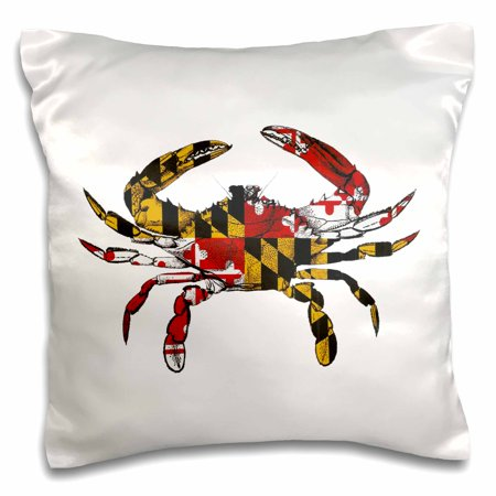 - 3dRose Maryland Crab Flag., Pillow Case, 16 by 16-inch