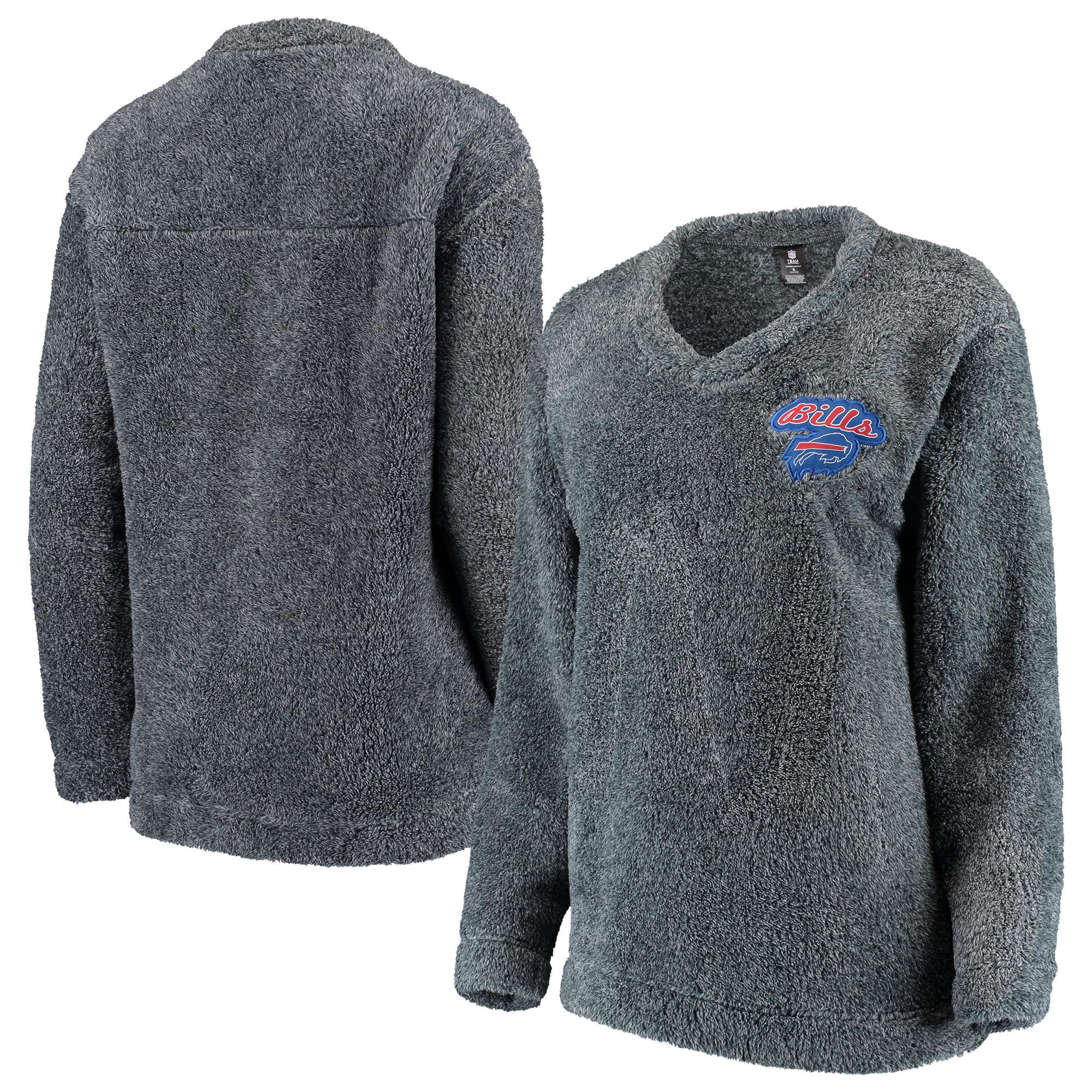 Buffalo Bills Concepts Sport Women's Trifecta Pullover Sweatshirt - Charcoal