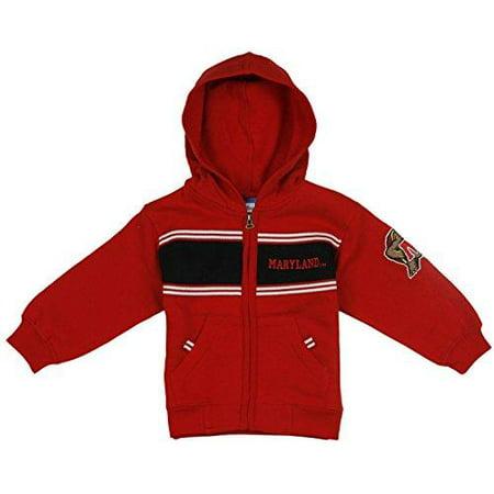 Toddler College Fleece Hoodie (Maryland Terrapins NCAA College Toddlers Full Zip Fleece Hoodie Sweatshirt, Red)