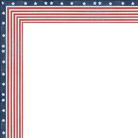 5x5 American Flag Wood Frame - Great for Posters, Photos, Art Prints, Mirror, Chalk Boards, Cork Boards and Marker Boards, Brand New Frame Hand Made in the USA By FramingSPORTS,USA - Flag Frames