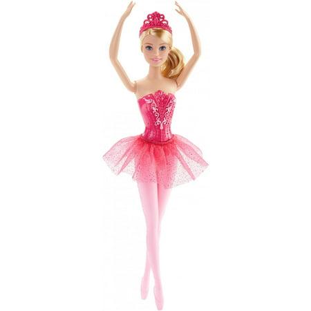 Barbie Ballerina Doll with Removable Pink Tutu & Tiara - Pink Ballerina