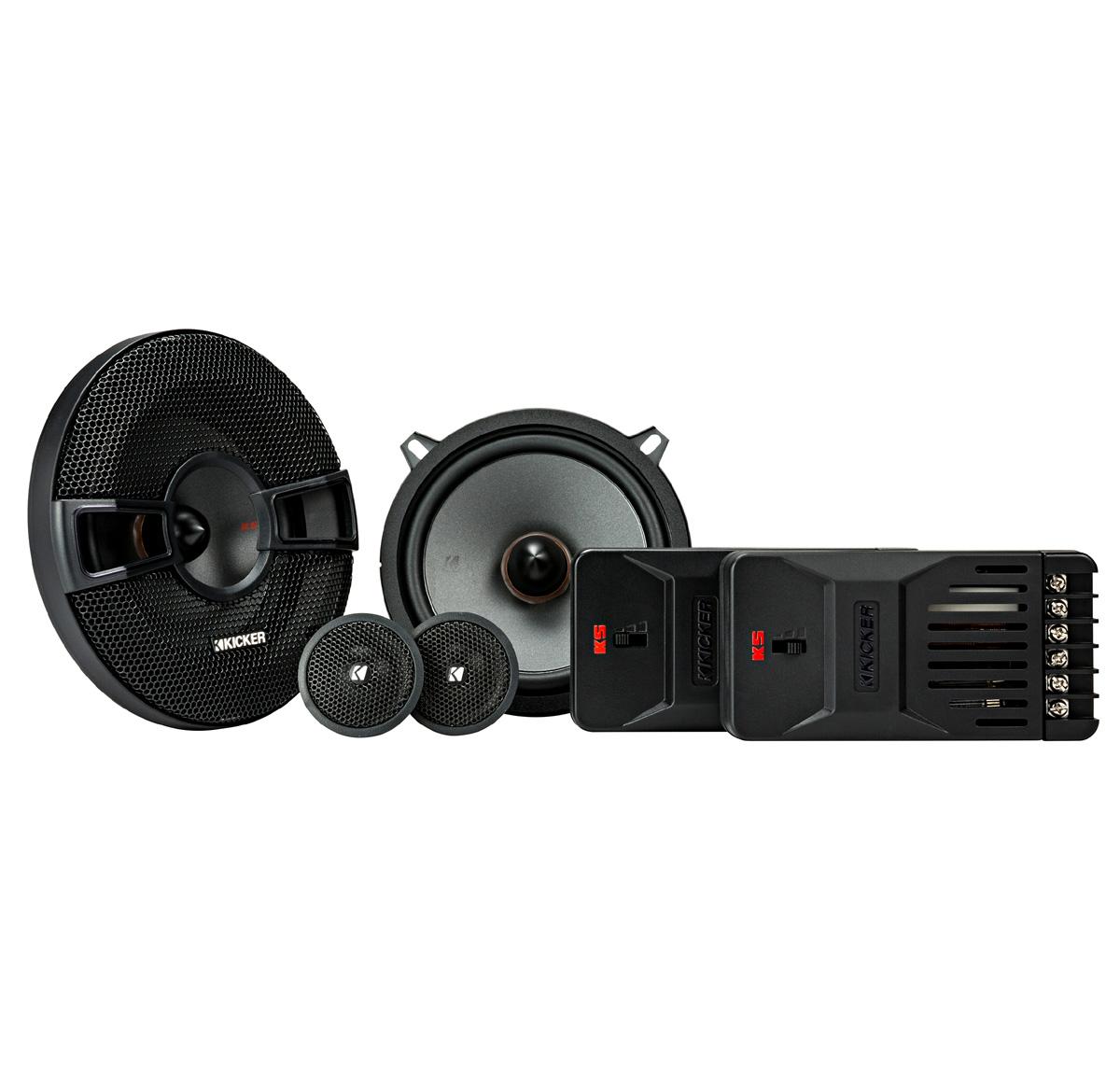 "KICKER 44KSS504 5.25"" (130mm) Component system w/1"" (25mm) tweeters, 4ohm, RoHS Compliant"
