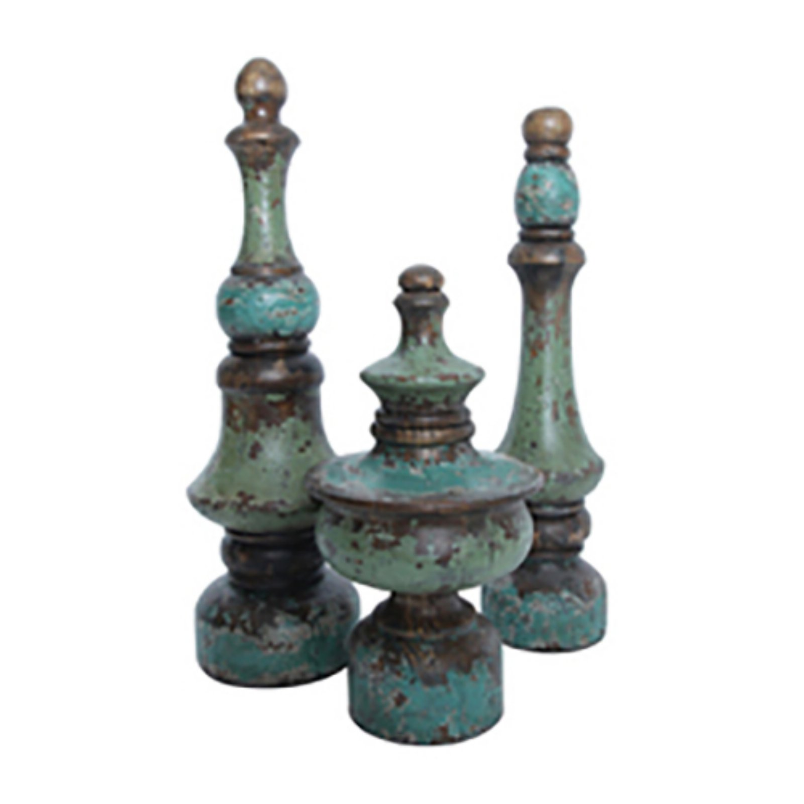 Guild Master Malaga Decorative Finials - Set of 3