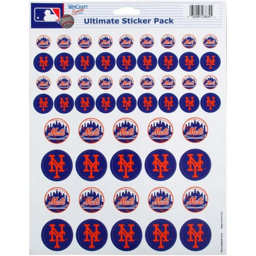 New York Mets 8.5'' x 11'' Sticker Sheet - No Size
