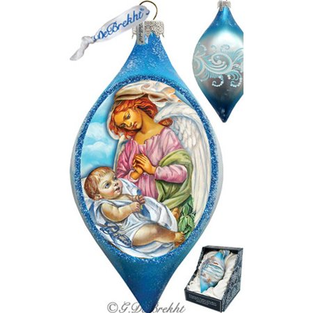 G Debrekht Holiday LED Angelic touch Glass Ornament Drop