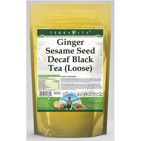 Ginger Sesame Seed Decaf Black Tea (Loose) (8 oz, ZIN: 542580)