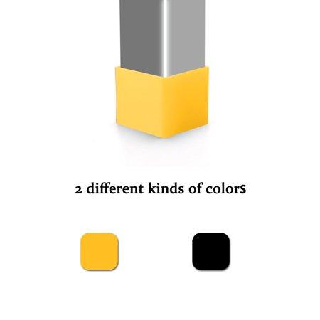40mm x 40mm Angle Iron Foot Pad L Shaped Plastic Leg Cap Protector Yellow 4pcs - image 4 de 7