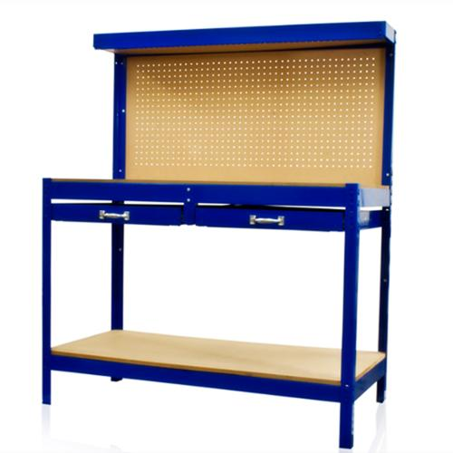 Work Bench Tool Storage With Drawers and Peg Board Solid Steel Construction New