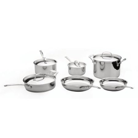 BergHOFF EarthChef Premium 18/10 Stainless Steel Copper Clad 10pc Cookware - Revere Ware Copper Clad