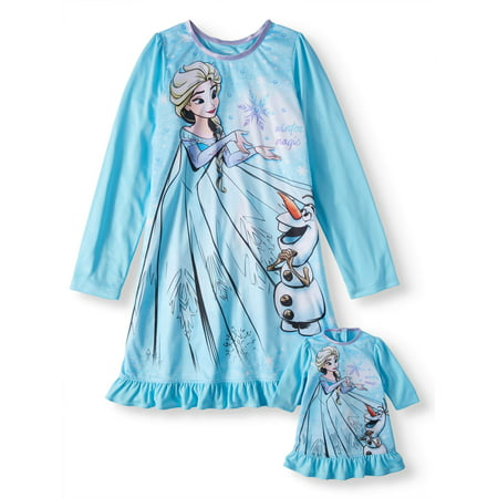 Frozen Long Sleeve Nightgown (Big Girl & Little Girl)