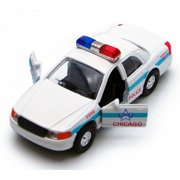 Chicago Police Car, White - Showcasts 9985CG - 5 Inch Scale Diecast Model Replica (Brand New, but NOT IN BOX)