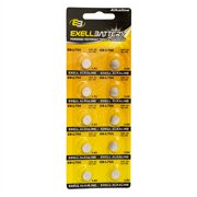 10pk Exell EB-L754 Alkaline 1.5V Watch Battery Replaces AG5 393 LR48
