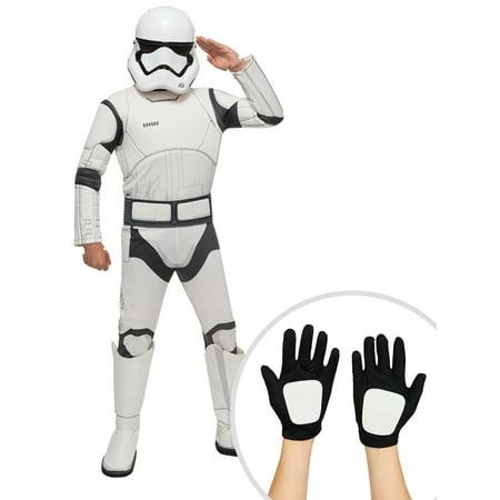 Star Wars Episode VII Stormtrooper Deluxe Costume for Kids and Kid's Star Wars Clone Trooper - Stormtrooper Gloves