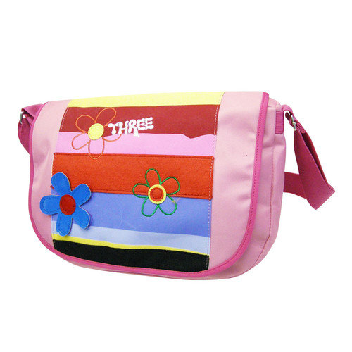Three Pixie Stripe Sling Bag in Pink