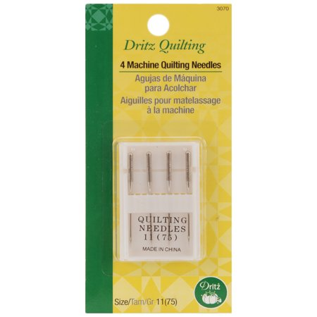 Dritz Quilting Machine Quilting Needles -Size 11/75 4/Pkg - image 1 of 1