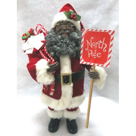 Santa's Workshop 15'' African American North Pole (Terrys Village Santa)