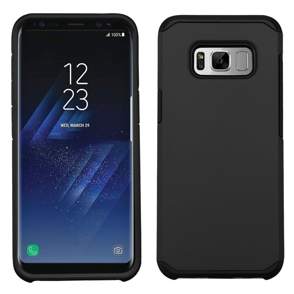 Samsung Galaxy S8+ Case, Samsung Galaxy S8 Plus Case, by Insten Astronoot Hybrid Dual Layer Hard PC/TPU Case Cover For Samsung Galaxy S8+ S8 Plus - Silver/Black - image 3 of 3