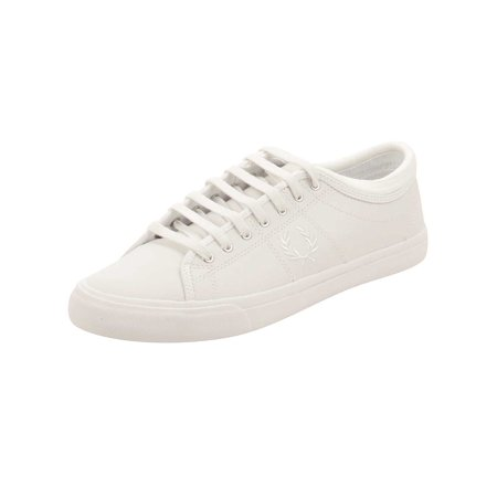 6a435b05be Fred Perry - Fred Perry Mens Kendrick Tipped Cuff Leather Sneakers in White  - Walmart.com