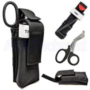 One Hand Tourniquet Combat Application First Aid + Trauma Shear+ Molle Pouch - Ideal Gift for First Responder, EMT, Paramedics, Soldiers, Police and Many More
