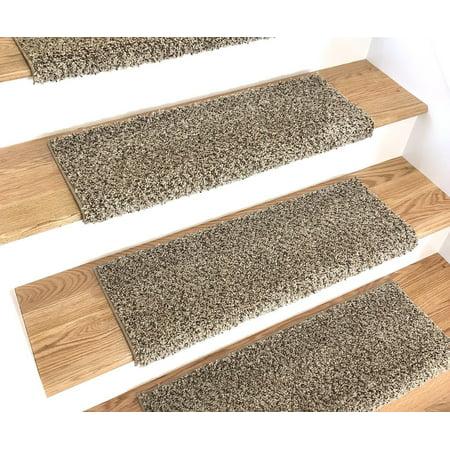 Caprice Beach Bullnose Carpet Stair Tread With Adhesive