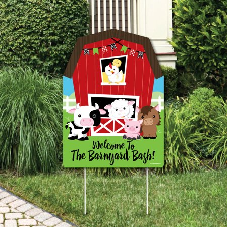 Yard Decorations For Sale (Farm Animals - Party Decorations - Birthday Party or Baby Shower Welcome Yard)