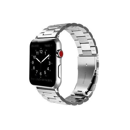 For Apple Watch 4 44mm Band Solid Stainless Steel Metal Replacement Wrist Bands for Apple Watch Series 4 (18k Solid Wrist Watch)
